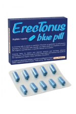 Erectonus Blue Pills - 10 gélules : Un complément alimentaire exclusivement pour hommes permettant de booster les performances sexuelles et la libido.