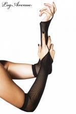 Gants 1 doigt résille : Gants 1 doigt fantaisie, accessoire indispensable de vos tenues résille.