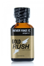 Poppers Gold Rush 24 ml : A base de nitrite de Pentyle, c'est le poppers le plus fort du marché.