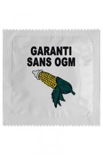 Préservatif humour - Garantie Sans Ogm : Préservatif Garantie Sans Ogm, un préservatif personnalisé humoristique de qualité, fabriqué en France, marque Callvin.